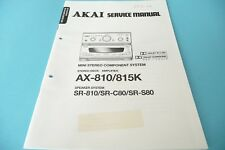 Service Manual-Instructions pour AKAI ax-810, ax-815 K Original!