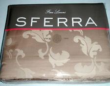 Sferra MIANA Queen Duvet Cover Latte Brown Egyptian Cotton Sateen New