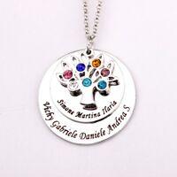 Halskette baum des Lebens mit Gravur Personalisiert Familie Geschenk graviert