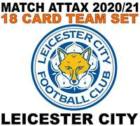 Match Attax Champions League 2020/21 LEICESTER CITY 18 card team set