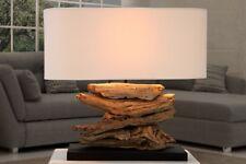 Lampe de table 50cm Moderne Artistique fait à la main en bois toile