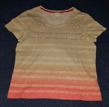 Women's Zenergy by Chico's Grey and Pink Ombre Blouse size 1 top