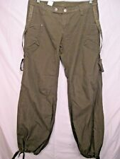 vintage Diesel parachute pants olive drab satin waist Hong Kong size 33 X 34