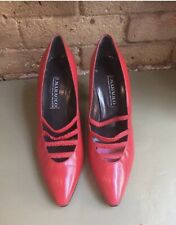 Vintage Red Leather Maraolo Women's Shoes Size 9B