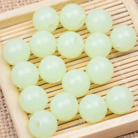 100Pcs Glow In The Dark Lunminous Round Spacer Loose Beads Jewelry Making Crafts