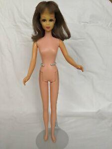 1965 Vintage Bend Leg FRANCIE Dolle Brunette JAPAN Rooted Eyelashes VGC