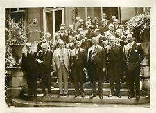 """""""Entrevue Internationale au Conseil 1931"""" Photo originale G. DEVRED (Agce ROL)"""