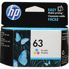 Genuine HP 63 Black F6U62AN + Color F6U61AN Ink Combo L0R46AN
