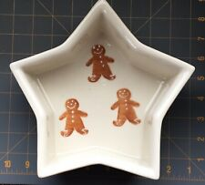 Hartstone Pottery Star Gingerbread & Holly Baker Bowl Christmas Collectible 1991