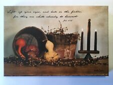 Harvest John 4:35 Small Billy Jacobs Canvas Primitive Country Picture Wall Decor