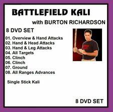 battlefield kali 8 DVD SET single stick like arnis escrima     burton richardson