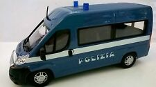 BURAGO 1:43 EMERGENCY FORCE DIE CAST FURGONE FIAT DUCATO POLIZIA ART 18-32025