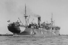 PORT DARWIN Australian Troopship Dazzle at Melb WW1 modern Digital Postcard