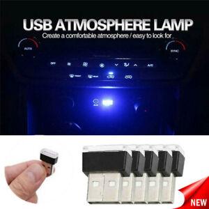 5PCS Color Mini USB LED Car Light Interior Neon Atmosphere Ambient Lamp Wireless
