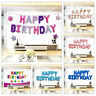 16'' Happy Birthday Foil Balloon Set Adult Child Party Decoration Letter Star