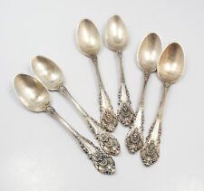"""Wallace Sir Christopher Sterling Silver 6 Demitasse Spoons, 4 1/8"""""""