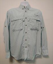LL Bean Fly Fishing LS Shirt Light Blue Vented Vintage Nylon Men's Small OPD24