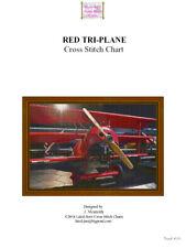 RED TRI-PLANE - CROSS STITCH CHART