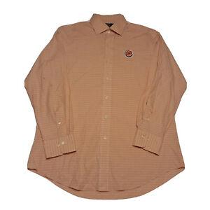 Burger King Embroidered Polo Ralph Lauren Long Sleeve Shirt Size 16 32/33 Orange