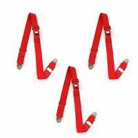 Jeep Wrangler/TJ 1997 - 2006  Standard 2pt Red Lap Bench Seat Belt Kit - 3 Belts