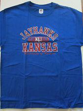 NCAA University of Kansas Jayhawks Royal Blue T Shirt New NWT Large