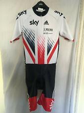 L adidas skinsuit bike cycling team GB SKY union jack SS TRA