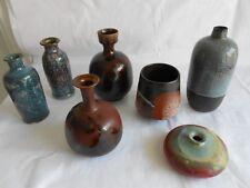 7 kleine Keramik Vasen - alle signiert Künstlerkeramik