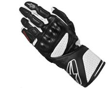 Alpinestars SP-8 SP8 Leather Glove White Black Motorbike Motorcycle Gloves