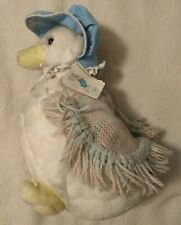 Beatrix Potter Jemima Puddle Duck Stuffed Plush by Eden Peter Rabbit vintage