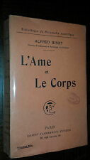 L'AME ET LE CORPS - Alfred Binet 1905