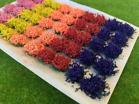 S-P Flower Tufts - Model Scenery Railway Wargame Self Adhesive Static Grass Base