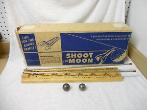 Vintage Drueke Shoot the Moon Game #1959 In Original Box W/2 Steel Balls (Parts)