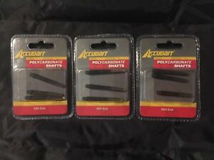 NEW Lot of 3 Accudart Polycarbonate Shafts (3 /pack) For Darts 2BA Size BLACK