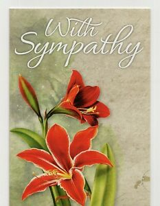 'WITH SYMPATHY' CONDOLENCE GREETING CARD BY CARD OVATION - QUALITY - FREE P&P