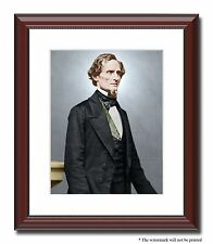 "President Jefferson Davis Confederate 11x14"" Framed Photo Color Civil War-23852"