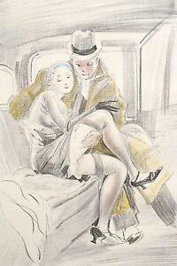 Feodor Stepanovich Rojan Rojankovsky Russian Erotica Handcolored Lithograph 23