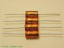 4pcs ROE EB 220uF 40V 105°C LL Axial Hi-Fi Audio Gold Capacitors.NOS.