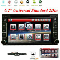 6.2 Touch Screen Double 2DIN Car GPS Stereo CD DVD Player Bluetooth Radio+Camera