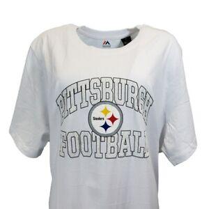 Pittsburgh Steelers NFL Majestic Women's White T-Shirt Plus Size 3X & 4X