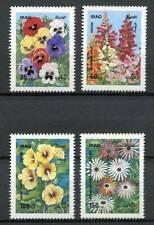 38824 ) IRAQ 1989 MNH** Flowers 4v