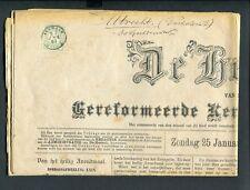 1891, 1 ct Cijfer nvph 31 op complete krant DE HERAUT van Alkmaar naar Utrecht