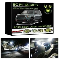 White LED interior lights package kit for 2015-2021 Jeep Renegade 3014 SMD +Tool