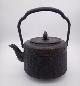 Antik Tetsubin Japanische Gusseiserne Teekanne  Schwarz Iwachu