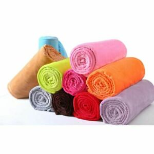 Warm Soft Flannel Plush Blanket Multi Function Sleeping Bag Mat Lightweight Type
