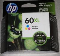 Original Genuine HP 60XL Tricolor Ink Cartridge CC644WN Exp 02/2021 New in Box
