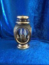 More details for vintage oil lantern - black and brass effect - 20cm
