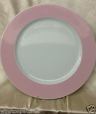 "THOMAS ROSENTHAL SUNNY DAY ROSE LIGHT PINK RIM 12 1/8"" ROUND PLATTER GERMANY"