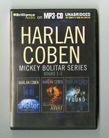 Harlan Coben - Bolitar Series: Books 1-3: Shelter, Seconds Away, Found. MP3 CD