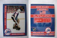 2015 SCA Mark Holden Winnipeg Jets goalie never issued produced #d/10