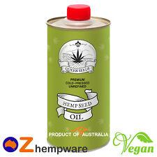 Hemp Seed Oil Australian Grown Organic Product of Australia Queen Seeds 1l